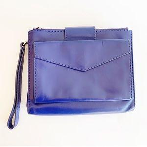 Danier Genuine Leather Cobalt Blue Bag Crossbody
